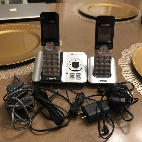 V Tech Cordless Handheld Home Phones Business Set
